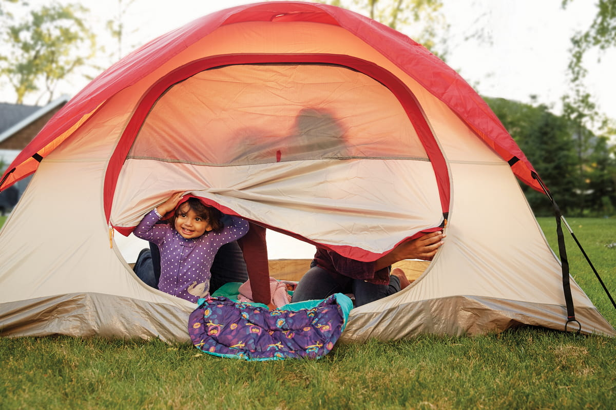 Go camping...minus the packing, right in your own backyard!