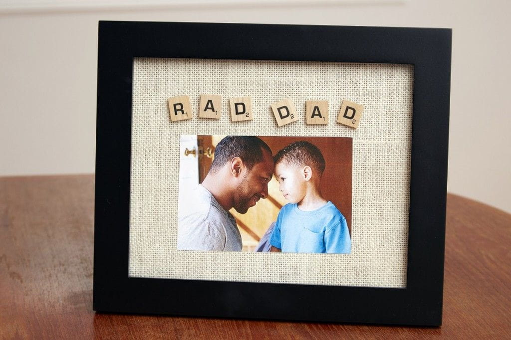 scrabble picture frame for rad dad