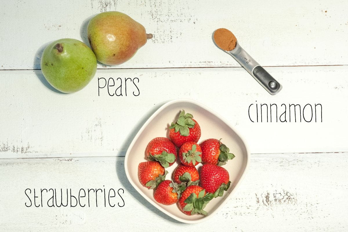 strawberry pear baby food ingredients