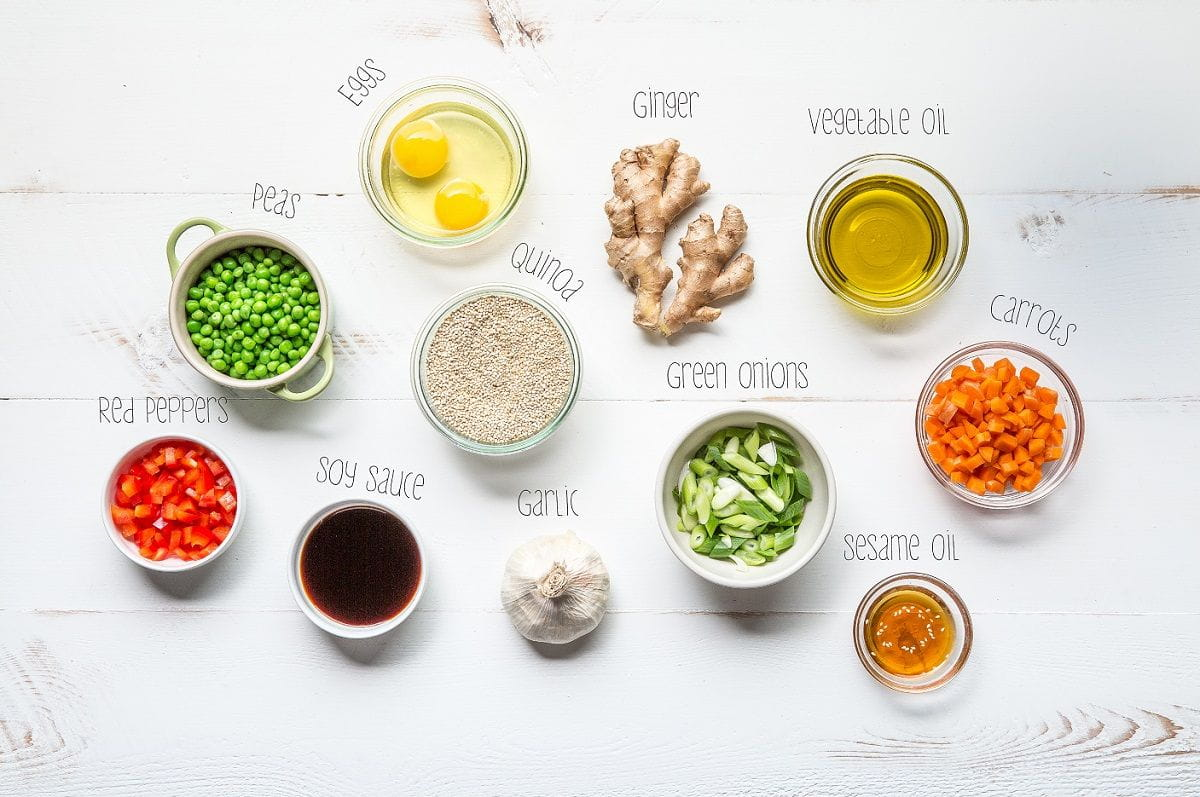 quinoa fried rice ingredients