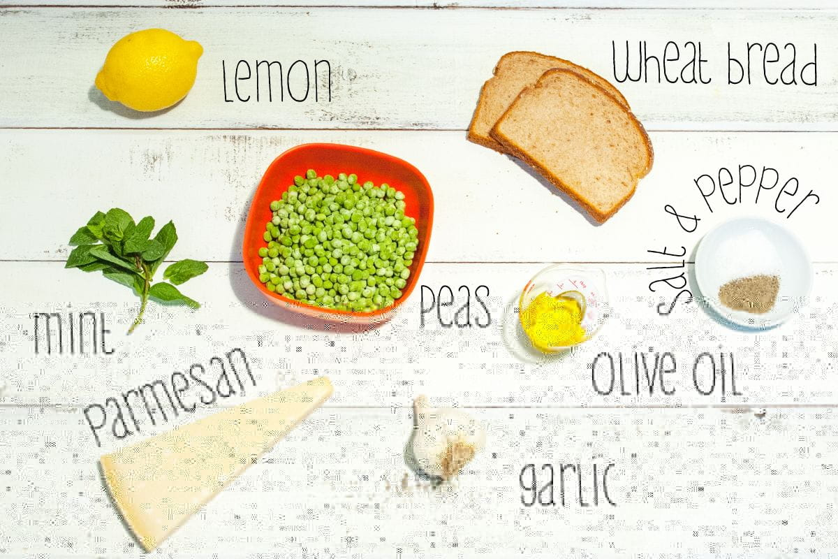 cheesy pea toast ingredients