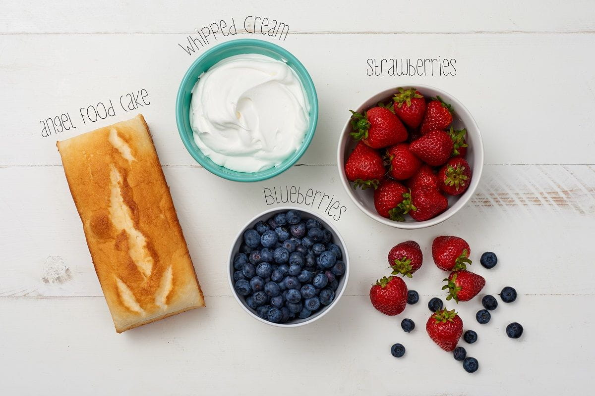 ingredients for berry shortcake