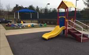 Our infants and toddlers love playing on this playground!