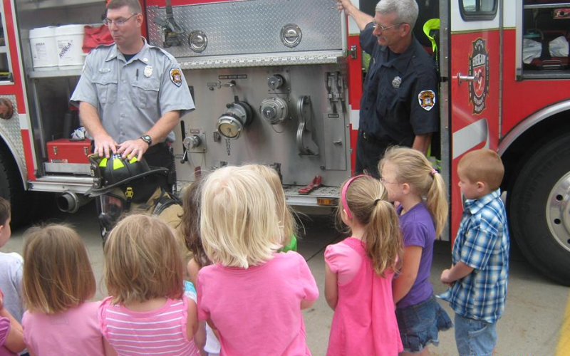 Firemen visit Northeast KinderCare