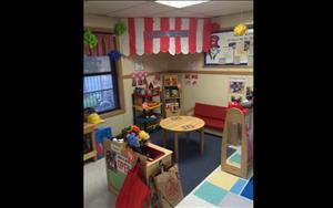 Our 3 year old preschool class, is a fun filled environment with tons of learning opportunities throughout. Our enhanced learning areas feature great opportunites for enhanced play and diversity. Our dramatic play area is always a fun spot.