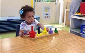 In Discovery Preschool the children use puzzles to sort and classify shapes and other objects by one or more attribute.
