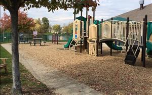 Preschool, Pre-K and School Age Playground includes bikes, climber, balls, hulahoops, sand tables, outdoor art easels and large blocks for building. On a nice afternoon you may find your child's classroom enjoying storytime outside, as well.