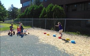 Obstacle courses on the playground