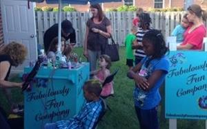 Our Summer Kick-off Party.... Airbrush tattoos and hair painting!