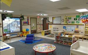 We have a large toddler classroom with plenty of space for your busy toddler to explore and play!