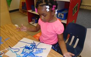 During the Wonderful Water unit the Discovery Preschool students loved doing art work.