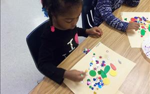 We encourage our preschoolers to be independent and express their creativity though a variety of art materials.