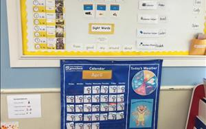 Each day begins in the Pre-Kindergarten Group Area where your child will experience calendar, weather, class helpers and sight word practice.