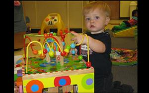 Infants love to learn through play.