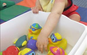Enjoying sensory play with water