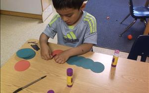 Concentrating on fine motor skills!