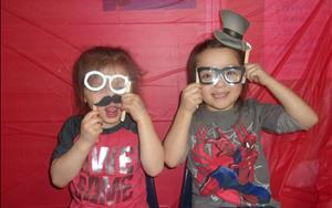 "Having fun at our ""Friendship Photo Booth"" during our ""Friendship Sing-A-Long"" event!"