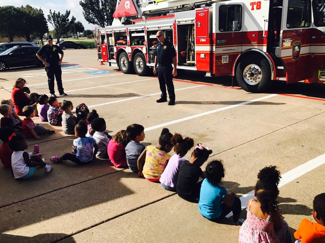 Plano Fire Department Visits School