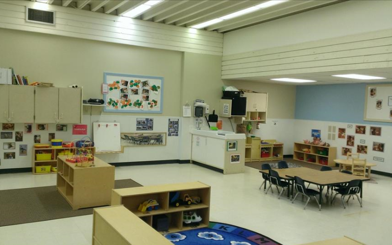 Our Toddler classroom provides a spacious place for children 18 to 24 months to play and learn.  The Early Foundations Toddler curriculum is designed to help toddlers explore their world in a safe and nurturing environment.