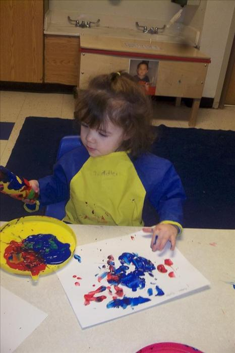 Hands on learning in the Toddler Classroom!