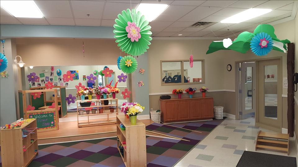 This is the Imagination Station, one of our Enrichment Rooms, set up as a Flower Shop.