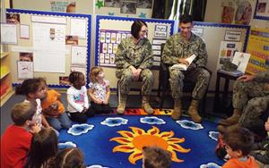 Our amazing Military friends came by to read to us today!