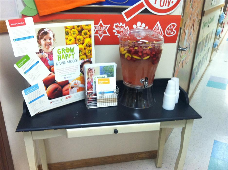 Through our Grow Happy initiative, we are raising awareness about healthy lifestyle choices. Currently offering fruit infused water for our families to enjoy!