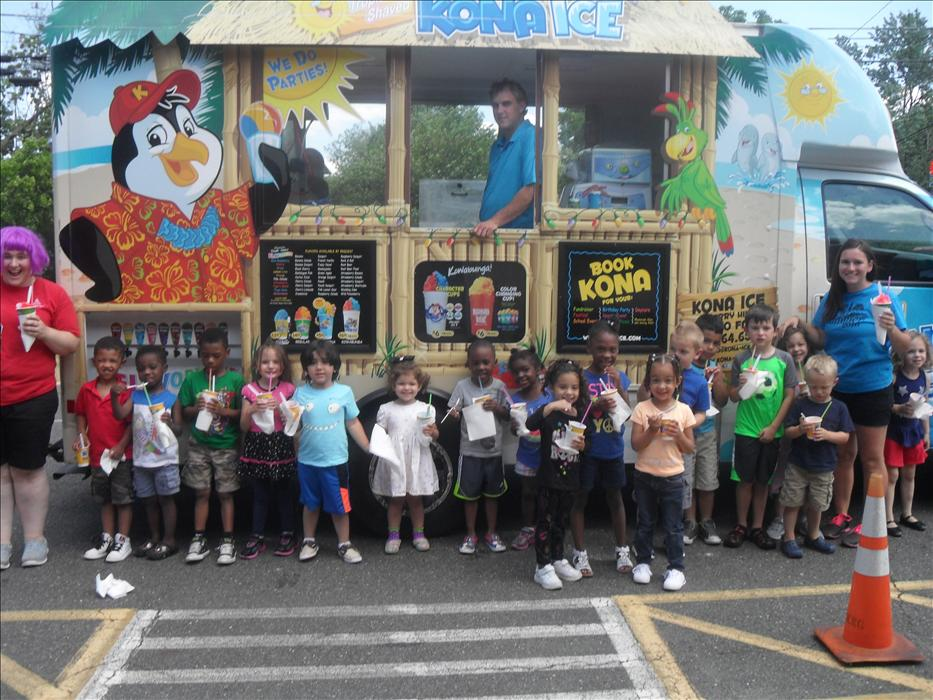 Kona Ice visits to kick off our Summer Camp!