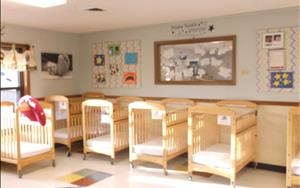 "Our infant room here at KinderCare is amazing! For the month of August the unit is based on ""All About Me"" which emphasizes skills that helps infants become more self-aware, and that set the stage for self-help and self-regulation."