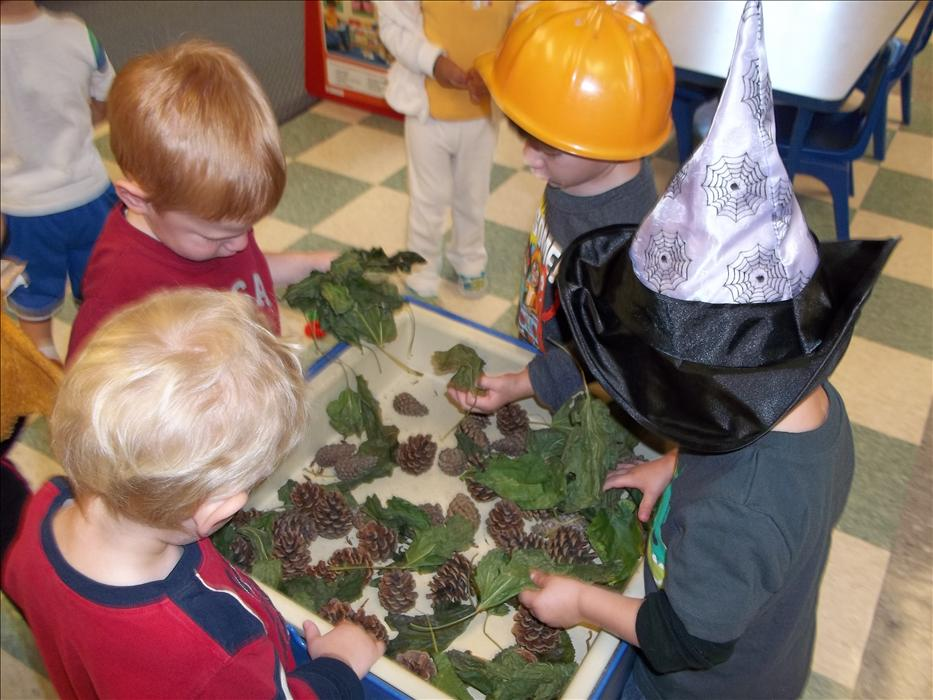 young science explorers in our Discovey Preschool class
