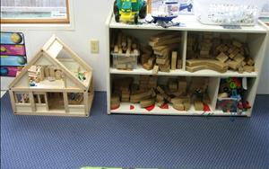 The great thing about our program is learning is fun!! Children are asked to use the blocks to build a barn for their animals. They set off with their imagination to build an extraordinary barn.  Our teachers know they are using math concepts, eye hand coordination, and fine motor skills. They are also learning science concepts such as cause and effect. Who knew?  Our teachers knew.
