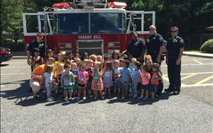 The Cherry Hill Fire Department came to visit us!