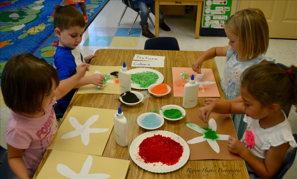 Preschool - Learning about textures and colors.