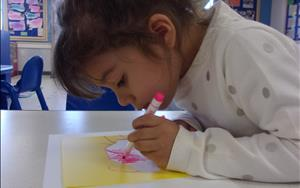 We promote early writing skills through regular journaling and writing activities.