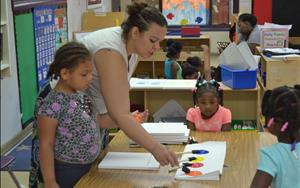 Center Director is always involved in her classrooms!