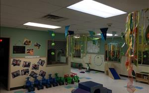 We just recently renovated our Indoor Gross Motor room. Here's a picture of the new improvements we have made!