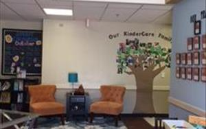 Our lobby is a friendly area where our parents gather to visit with each other.  It features our spirit calendar, parent resource materials and community resource information.
