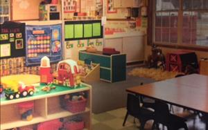 "Discovery Preschool- our theme here is ""The Farm"" where the classroom has been transformed so that children learn about The Farm in all areas of development."
