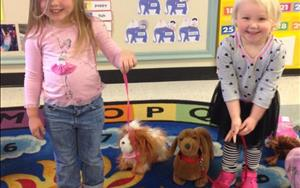 "The Preschoolers learned about pets during our ""Pet"" theme! We even had a dog show at the end of the week!"