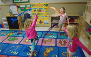 Prekindergarten Enjoys Dancing