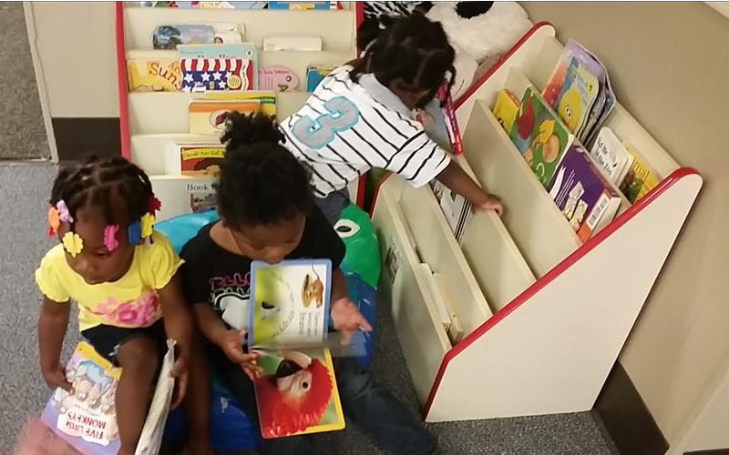 Our toddlers and two-year-olds love to read!