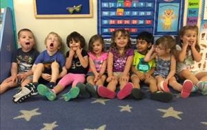 Smile! Ms. Jenny's class showing their silly faces!