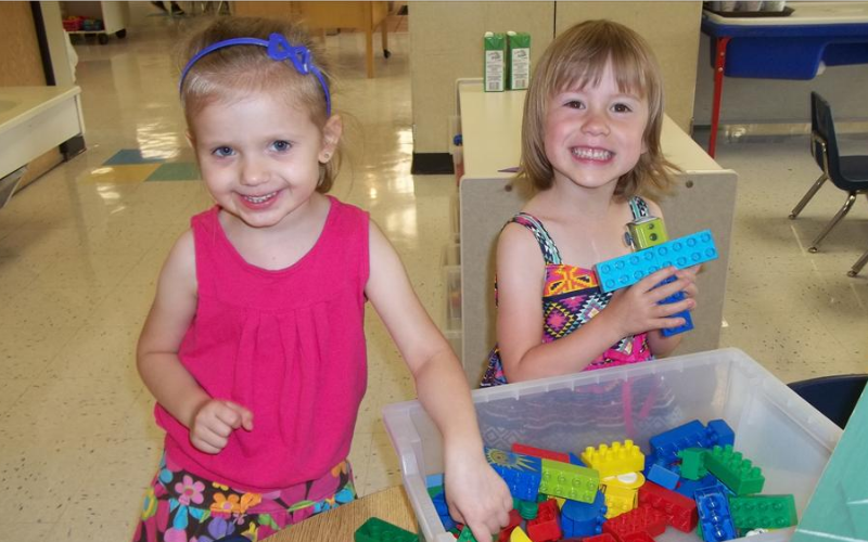 Preschool Classroom - Fun with LEGO Blocks