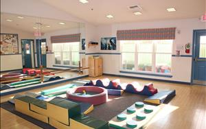 For those days when its too hot or raining, we have a indoor playroom!