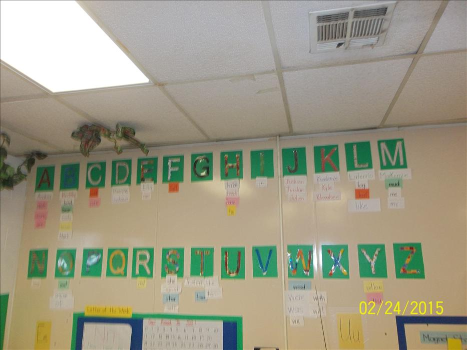 Pre K classroom letters