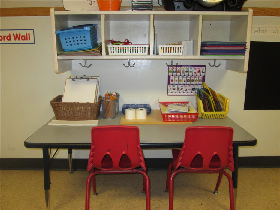 Our PreKindergarten writing center.