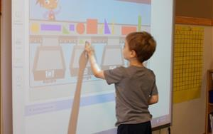 Working on the smart board