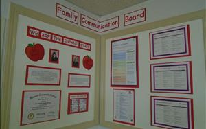 Our Infant Family Communication Board displays individualized lesson plans for each child in our care based on stages of development.