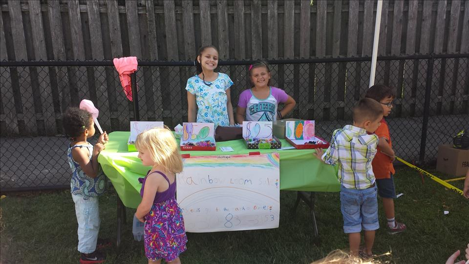 The Schoolage children made crafts to sell at a school event to raise money for March For Babies.