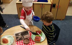Our pre-k restaurant is open for business!